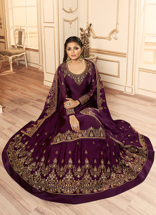 Magenta Wedding Lehenga Suit