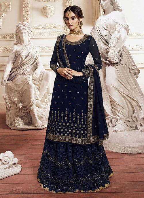 Embroidered Gharara Suit