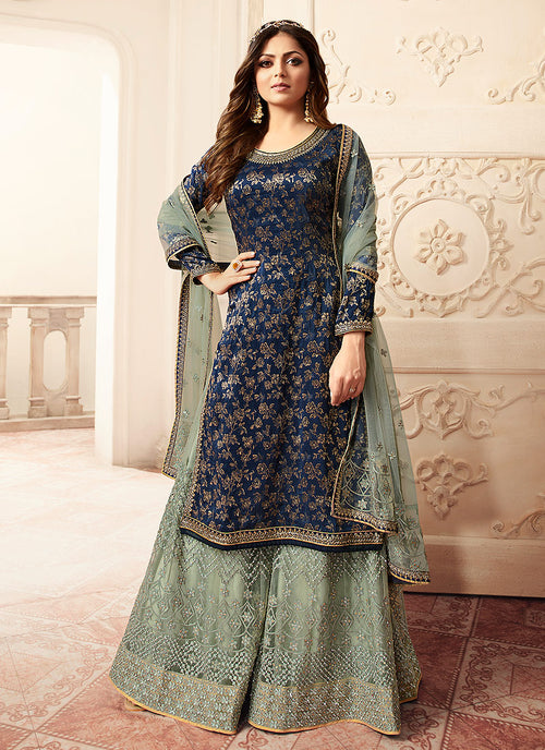 Blue And Teal Sharara