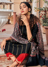 Indian Clothes - Black And Red Multi Embroidered Pant Suit In usa uk canada