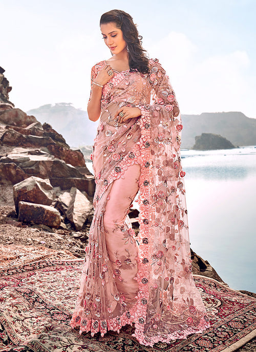 Floral Party Wear Saree