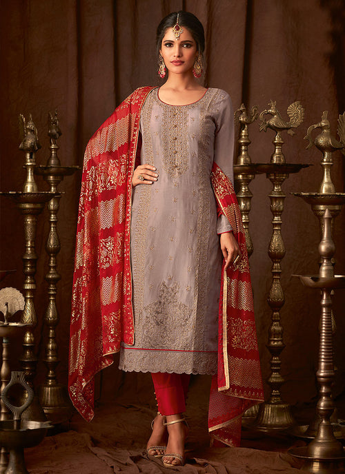 Embroidered Indian Pant Suit