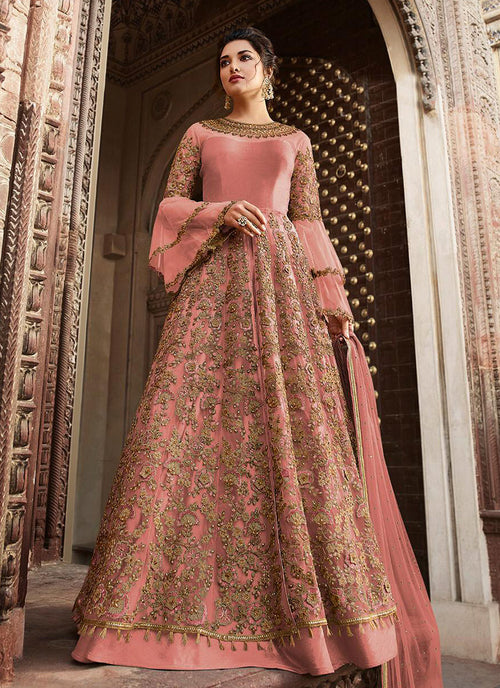 Pink Overall Embellished Lehenga/Pant Suit