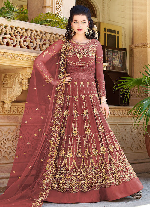 Embroidered Anarkali Lehenga Suit