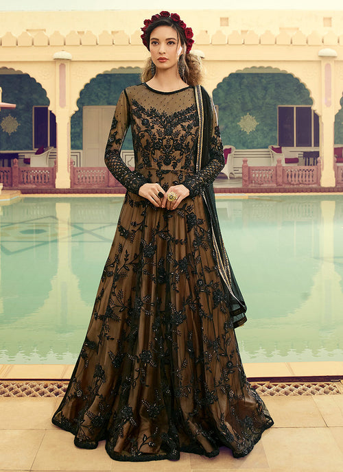 Traditional Embroidered Anarkali Gown