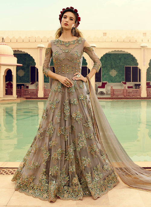 Flared Anarkali Gown