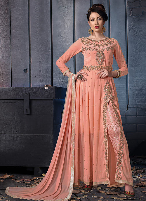 Slit Style Anarkali Pants Suit