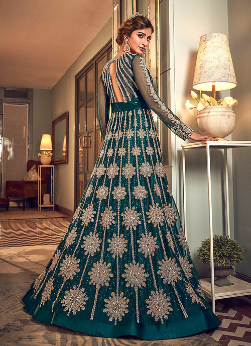 Indian Suits - Turquoise Blue Anarkali Suit, Buy Anarkali Suit in USA