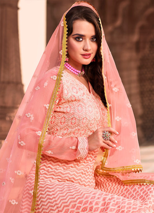 Indian Suits - Pastel Pink  Anarkali Suit