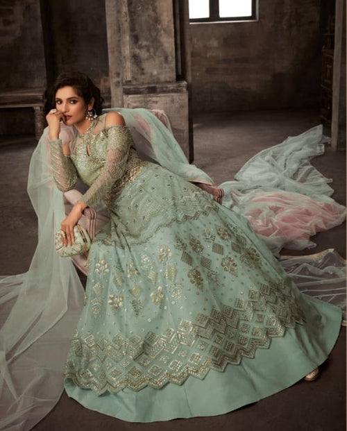 Anarkali Lehenga/Pants Suit