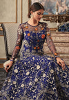 Blue Multi Embroidered Flared Anarkali Gown Set
