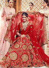 Bridal Red Hand Embroidered Lehenga Choli