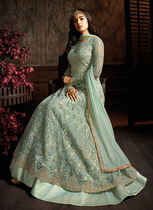 Layered Anarkali Suit