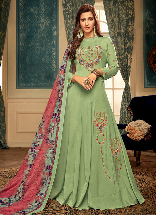 Green  Gown Suit