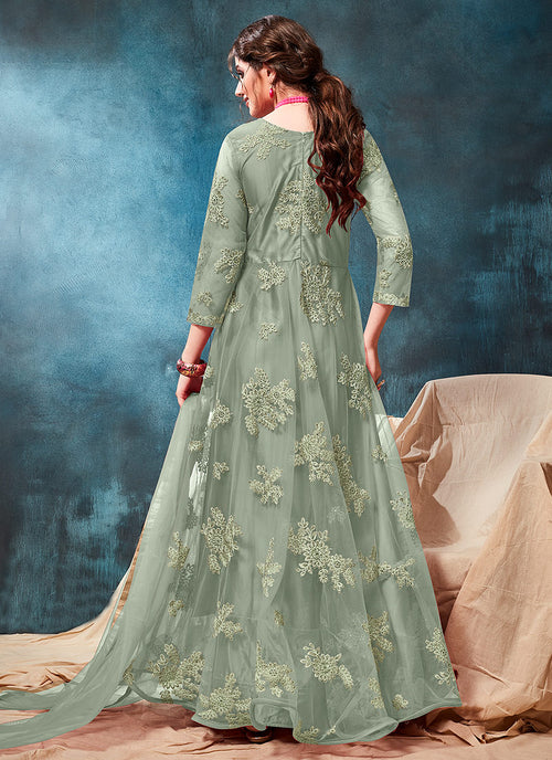 Embroidered Casual Anarkali Suit