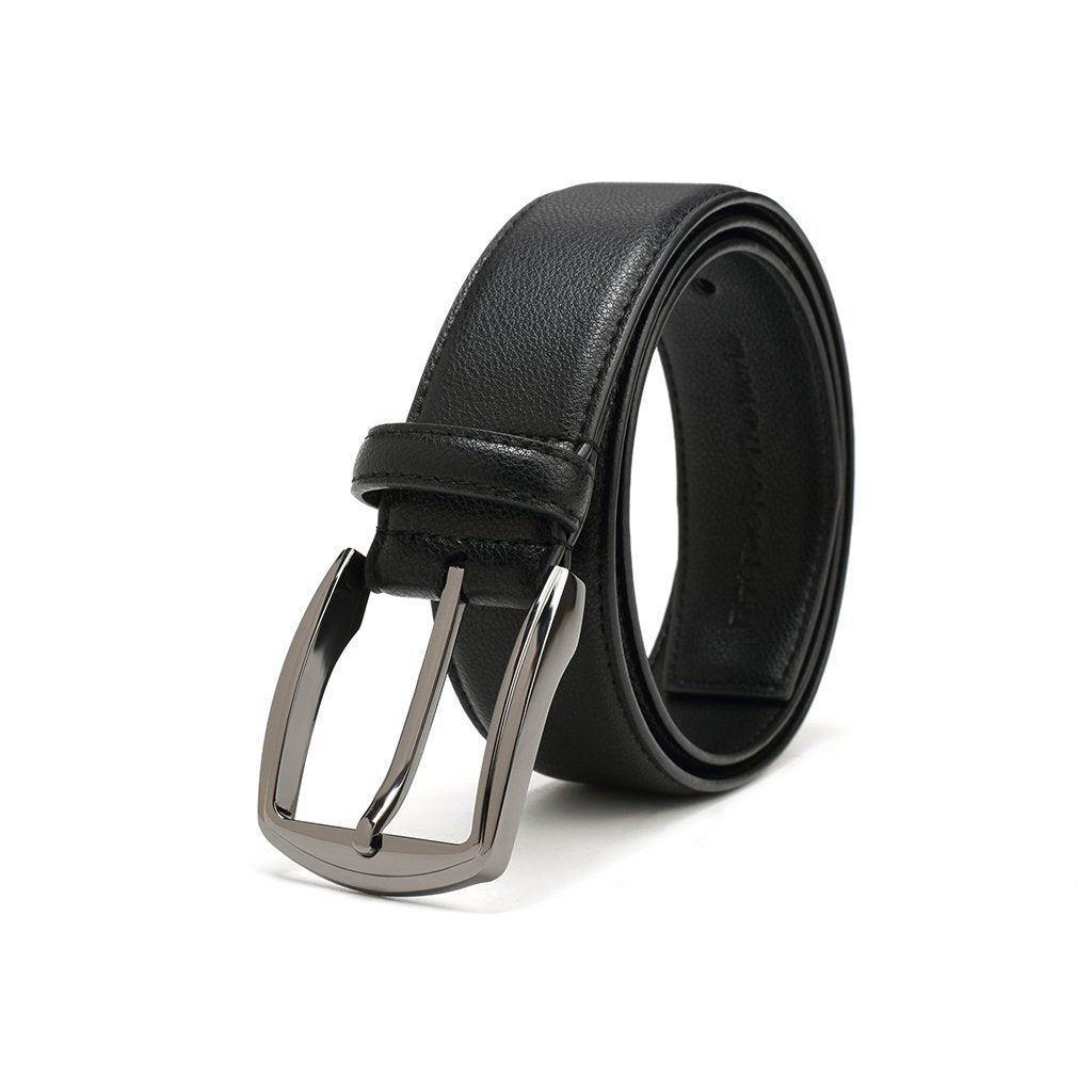 Polished Silver Belt - Vegan