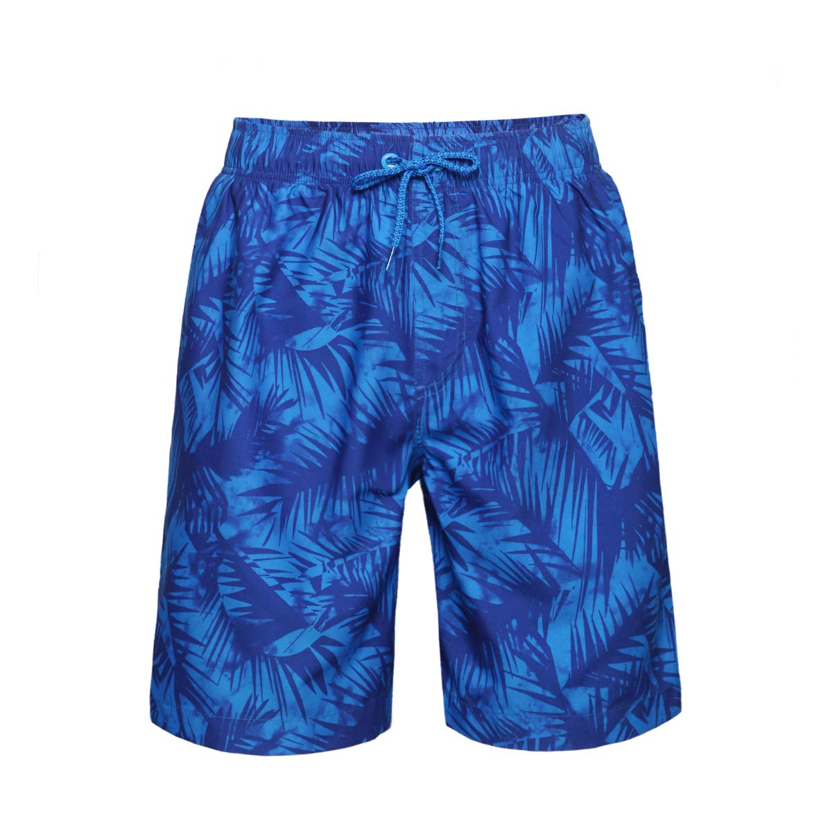 Quick Dry Drawstring Blue Boardshorts