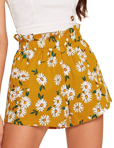 Casual Elastic Waist Summer Shorts Jersey Walking Shorts
