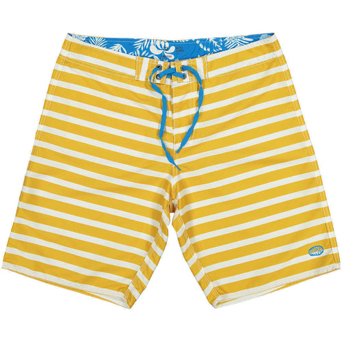 Clothesabyss Yellow Striped Boardshorts RPET
