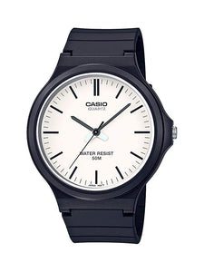Casio Classic Quartz Watch with Resin Strap, Black, 21.45