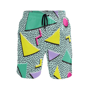 Retro 80s Neon Boardshorts Beachwear