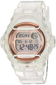 Casio Stainless Steel Watch with Resin Strap, Clear, 19