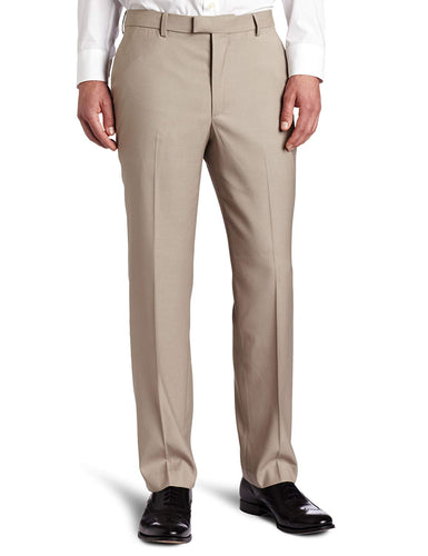 Perry Ellis Men's Big & Tall Portfolio Flat-Front Bengaline Pant