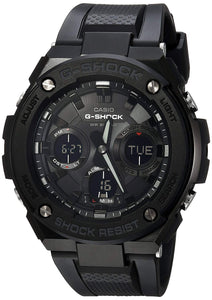 Casio Men's G Shock Stainless Steel Quartz Watch with Resin Strap, Black