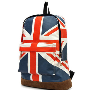 Canvas Backpack Campus School Bag