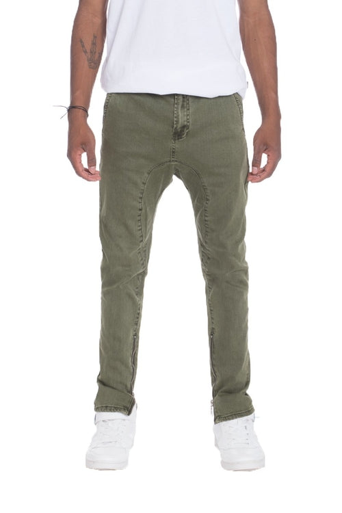 STRETCH DENIM OLIVE