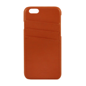 Genuine Leather iPhone Case- Saddle Brown