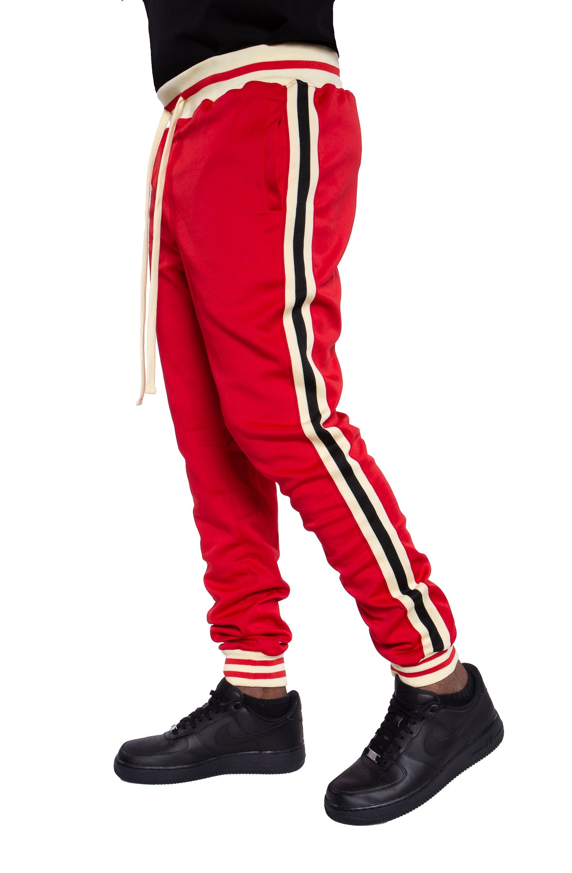 Fleece Track Pants Side Stripes