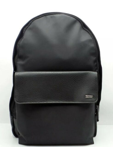 Calvin Klein Nylon Backpack Pebble PU Trim in Black