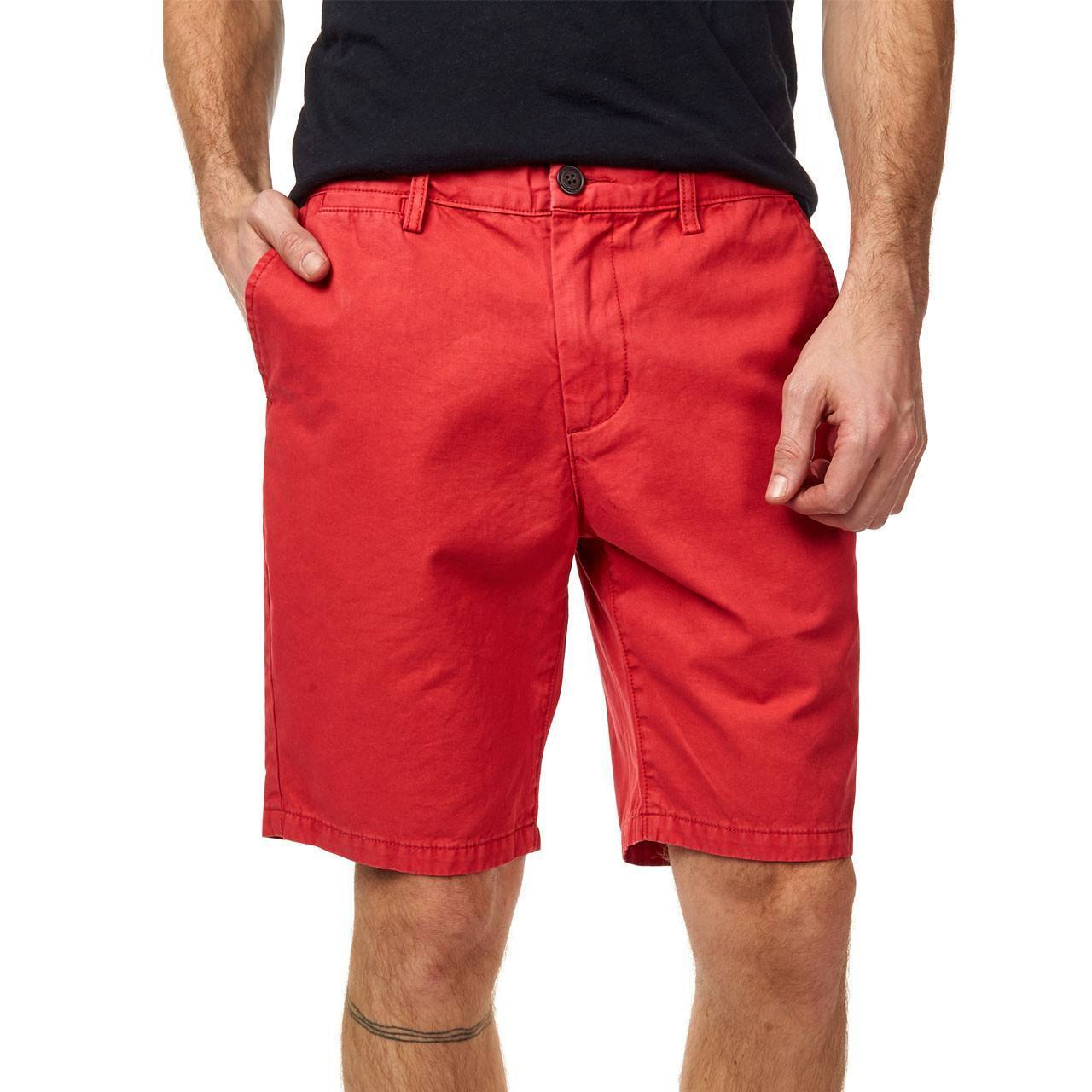 Bright Red Casual Shorts