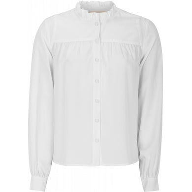 Soft Rebels Misty Frill Shirt, Off White