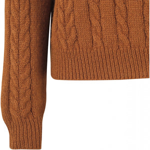 Soft Rebels Calby O-Neck Knit, Caramel Cafe