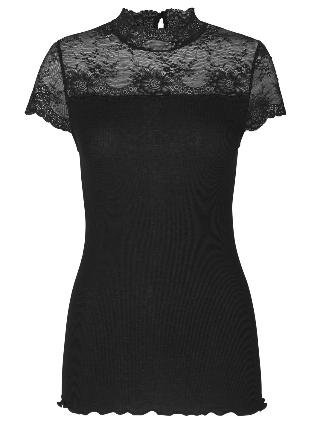 Rosemunde Highnecked T-Shirt w lace, 2 variants