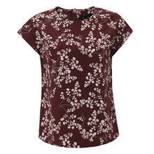 Load image into Gallery viewer, Soft Rebels KAROLINE SS BLOUSE - LEAF PRINT - MADDER BROWN
