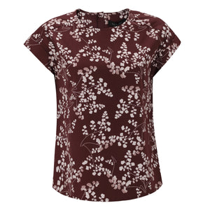 Soft Rebels KAROLINE SS BLOUSE - LEAF PRINT - MADDER BROWN