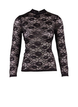 Load image into Gallery viewer, Saint Tropez, P1588, Lace Blouse Black