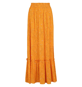 Soft Rebels Stilks Maxi Skirt, Orange