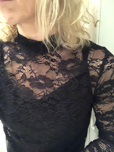 Saint Tropez, P1588, Lace Blouse Black