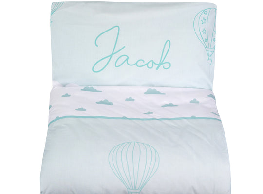 Organic cotton duvet cover and pillowcase sets for children