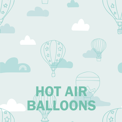 mint hot air balloons