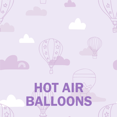 purple hot air balloons collection