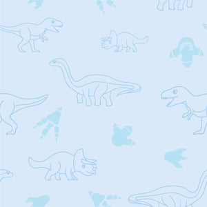 Bath towel - Dinos | Blue-Minimello
