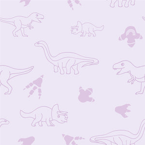 Organic cotton pillowcase - GOTS -certified - Dinos | Purple-pillowcase-Minimello