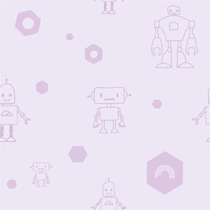 Throw cushion - Robots | Purple-Minimello