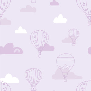 Bath towel - Balloons | Purple-Minimello