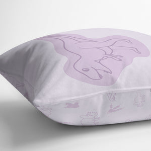 Throw cushion - Dinos | Purple-Minimello